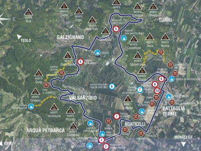 Percorso Mora, da Battaglia Terme a Valsanzibio per Monticelli