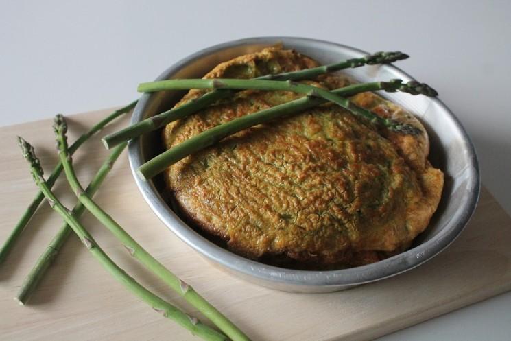Frittata al Forno con Asparagi Verdi e Formaggio di Pecora