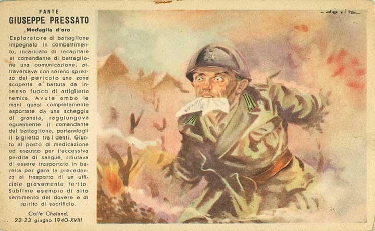 Giovanni Pressato, Una Storia di Eroismo e Propaganda
