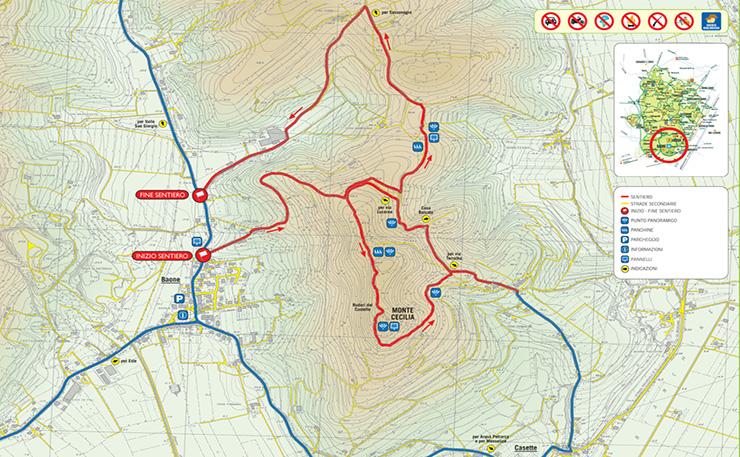 Sentiero n. 8 Monte Cecilia