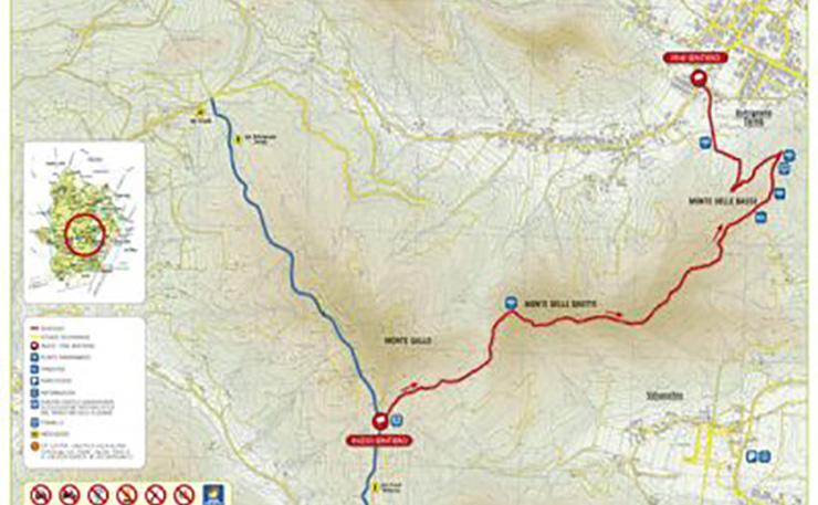 Sentiero n. 10 Monte Gallo, Monte delle Grotte, Monte delle Basse