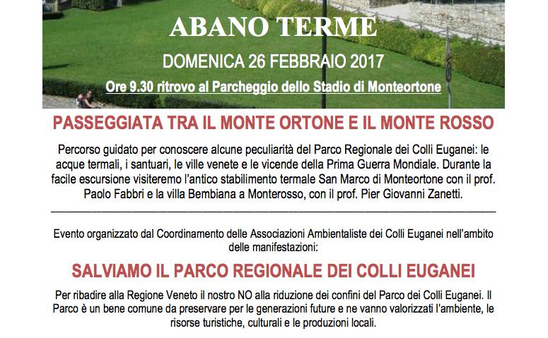 Calendario Manifestazioni Abano Terme.Salviamo Il Parco Dei Colli Euganei Passeggiata Ad Abano